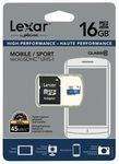 Lexar 16GB Micro SDHC Memory Card 45MB/s (with Adapter) $7.18 C&C @ The Good Guys eBay
