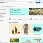 20% off 35 Selected Stores @ eBay (Harvey Norman, COTD, Dell, Sony, P.C. Byte, Kitchen Warehouse, Futu, Mighty Ape + More)