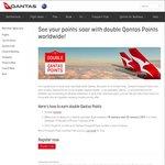 Earn Qantas Double Points on All Qantas Flights