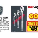 Repco 3 Piece Ratchet Set $49.99 (Save $84) - Ratchet Sizes 1/4, 3/8, 1/2. Lifetime Warranty