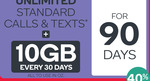 Kogan Mobile Unlimited Calls/Text 10GB/Month $19.90 per month (Pay $59.70 For 3 Months, For New Kogan Customers Only)