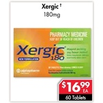 Xergic (Generic Telfast) 180mg 60 Tablets $16.99, Colgate Sensitive Pro-Relief 110g $3.99 @ Pharmacy 4 Less [In-store Only]