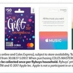 2,000 Bonus Flybuys (Worth $10) with Purchase of Any Coles MasterCard, Apple Music, Drummond Golf & BCF Gift Cards @ Coles