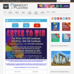 Win Gift Certificates from Puzzle Master and Passion for Puzzles