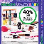 40% Off Maybelline Rimmel CoverGirl Sally Hansen ModelCo, 1/2 Price essano  at Woolworths Starts 11 Oct