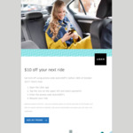 Uber - Save $10 off Your Next Ride