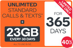 Kogan Mobile: 23GB/Month 1 Year Prepaid Plan $270 ($22.19/Month) - Previously $315 ($25.90/Month) - 14.3% off Via Gift Cards