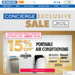 [Concierge Membership Required] Take 15% off Portable Air Conditioners @ The Good Guys