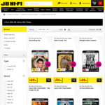 Selected 4K Movies 2 for $50 @ JB Hi-Fi Eg Get out, Guardians of The Galaxy 2, Kingsman 2