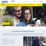 RACQ Discounted eGift Cards: 5% off Coles, Woolworths, JB Hi-Fi, Good Guys | 6% off Myer | 7% off EB | 7.5% off Target, Kmart