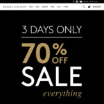 Rhodes & Beckett 70% off Everything (in-Store & Online)