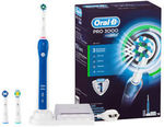 [eBay Plus] Oral-B Pro 3000 Rechargeable Electric Toothbrush Kit $66 Delivered @ Catch eBay
