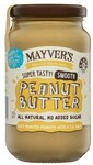 ½ Price Mayver's Natural Peanut Butter Varieties 375gm $2.50 @ Coles