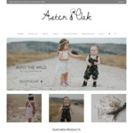 30% off Summer @ Aster & Oak Organic Baby and Kids Clothing