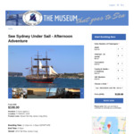 $30 off Ocean Sailing Tickets (Adults $90, Family $270) on Heritage Tall Ship 1874 James Craig @ Sydney Heritage Fleet