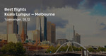 Kuala Lumpur to Perth/Melbourne in Business Class from $432/$571 One Way (Late December) on Malindo Air