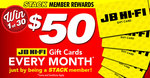 Win 1 of 30 $50 JB Hi-Fi Gift Cards from STACK