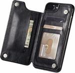 """iPhone 7/8/8S/Plus/X/XS 4.7"""" & 5.5"""" & 5.8"""" Marval.p Slim Durable Leather iPhone Wallet Case $6.98 + Postage @ Marvel P. Amazon"""