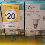 TP Link LB130 E27 Colour Bulb (Google/Alexa/IFTTT Compatible) $20 (RRP $79) @ Kmart