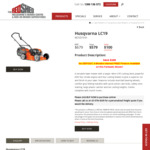 Husqvarna LC19 Lawn Mower $579 (Normally $679) @ Melbourne's Mower Centre ($515.30 with Price Match from Sydney Tools)