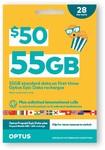Optus $50 Pre-Paid Sim Starter Kit - $20 @ Coles