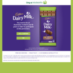 Win a Share of $5 Woolworths eGift Cards from Mondelez [Purchase Cadbury Dairy Milk Block]