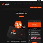 Boost Mobile: $30/Month | 20GB Data (+ Extra 15GB First 5 Recharges) | Unlimited Calls & Texts | Data Rollover | International