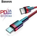Baseus PD 3.0 60W Type-C To Type-C Cable .5M US $1.42 (~AU $2.13) | 1M US $1.97 (~AU $2.97) | 2M US $3.62 (~AU $5.46) @ Joybuy