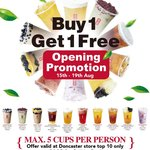 [VIC] Buy 1, Get 1 Free (Top Ten Only) @ Gong Cha Tea, Doncaster