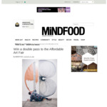 Win 1 of 5 Double Passes to the Affordable Art Fair Worth $45 from MiNDFOOD