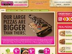 2 Real Large Size Pizza and Dessert Thingie All for Just $15.95 from Eagle Boys Ryde