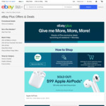 [eBay Plus] Apple AirPods 2nd Gen with Charging Case $99 Delivered @ eBay (100 Units at 10am, 1pm & 4pm)