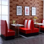 [QLD] New 1950 Style Retro American Cafe Diner Booth Set, 2 Sofas Plus Table $1299 @ Garage-Workbench