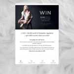 Win $1,000 Worth of Sheepskin Ugg Boots from Pure Oz