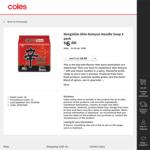 ½ Price Nongshim Shin Ramyun Noodles 600g 5pk $3 @ Coles