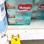 [NSW] Huggies Baby Wipes 3x80 Pack $5 @ Coles Lane Cove