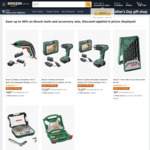Save up to 45% on Selected Bosch Tools and Accessory Sets @ Amazon AU
