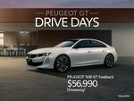 PEUGEOT 508 GT Fastback @ $56,990 Driveaway (RRP $62,414) and 508 GT Sportswagon $56,990 Driveaway (RRP $64,514)