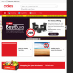 $15 off $150 Spend on Online Orders @ Coles Online