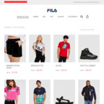 Women's Velour Short $15, Kids Basketball Shoes $20, Men's Knit Runners $30 + $10 Delivery @ Fila