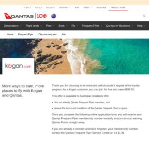 Free Qantas Frequent Flyer Membership via Kogan
