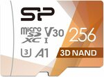 SP Silicon Power- 256GB MicroSD Card U3/ Write up to 80MB/s - $43.99 Delivered @ Silicon Power via Amazon AU