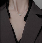 Silver Single Pearl Necklace $44 (Save $41) Delivered + Extra 30% off Storewide on Orders over $100 @ Allure Jewels