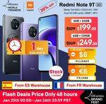 Xiaomi Redmi Note 9T 5G NFC B28 4GB 64GB US$218.90 / A$282.58 Delivered @ Mi Global Store AliExpress