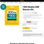 Optus Prepaid 12 Month SIM 300GB $250 (Was $300) Delivered @ Optus