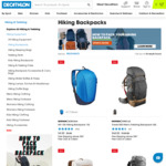 50% off Hiking and Trekking Backpacks from $4.50 + Delivery ($0 C&C) @ Decathlon AU