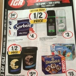 Sorbent Silky White 12 Embossed Toilet Rolls $4 ($0.34/Roll, 19 Cents per 100 Sheets), 1L Connoisseur Ice Cream $5.50 @ IGA