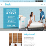 Spend and Save: $200 off $600, $75 off $300 or $50 off $150 + Free Delivery @ Zeek