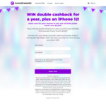 Win 1 of 3 Prizes of a Purple iPhone 12 & Double Cashback for 12 Months (Requires $20 Purchase, $2349 Value Each) @ Cashrewards