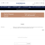 40% off Storewide for All Rewards Members (Free Registration) @ Sheridan